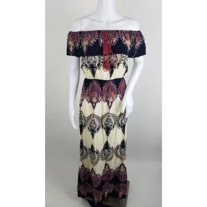 H&M Off Shoulder Paisley Maxi Dress